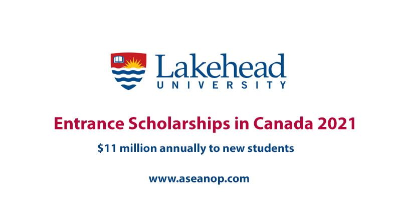 Lakehead University Entrance Scholarships in Canada