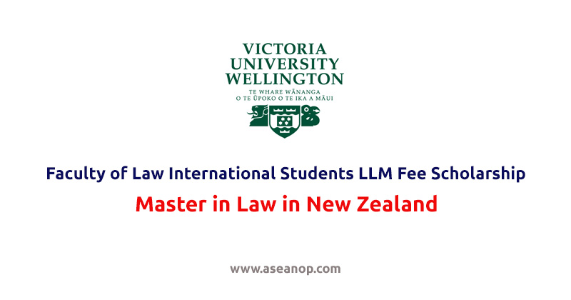 Faculty of Law International Students LLM Fee Scholarship in New Zealand