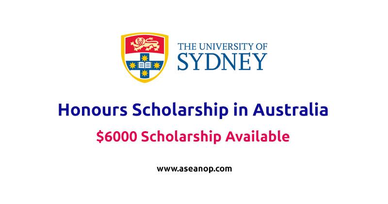 University of Sydney Honours Scholarship in Australia