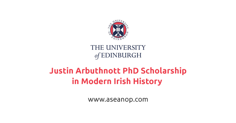 Justin Arbuthnott PhD Scholarship in Modern Irish History