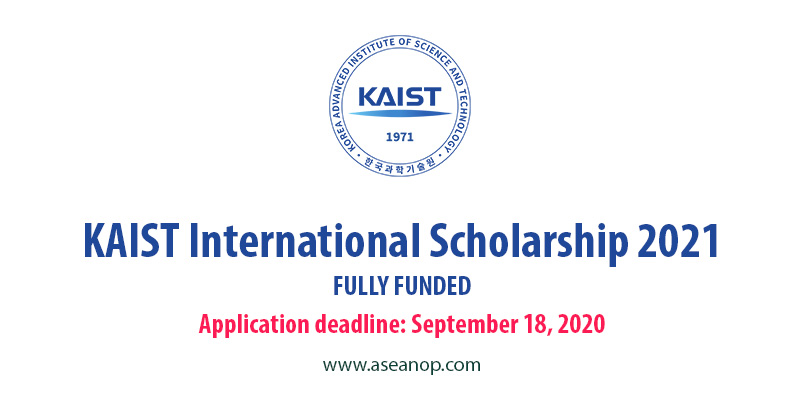 URGENT: KAIST Fully-funded Scholarships for International ...