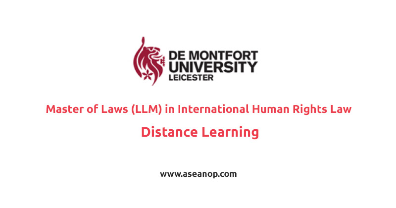 Master of Laws (LLM) in International Human Rights Law by Distance Learning