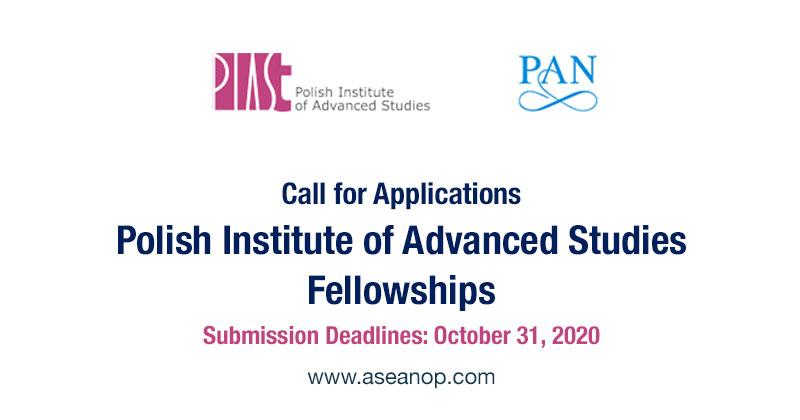 Poland Institute for Advanced Studies, Fellowships 2021 2022