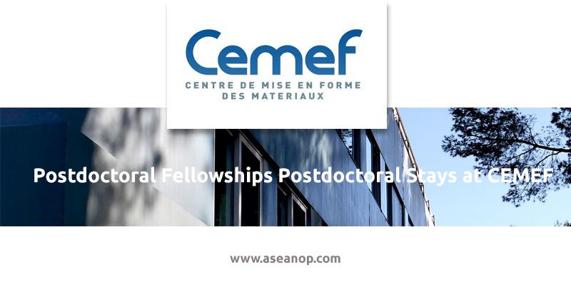 Postdoctoral fellowships postdoctoral stays at CEMEF