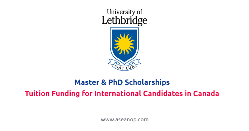 University of Lethbridge Tuition Funding for International Candidates in Canada