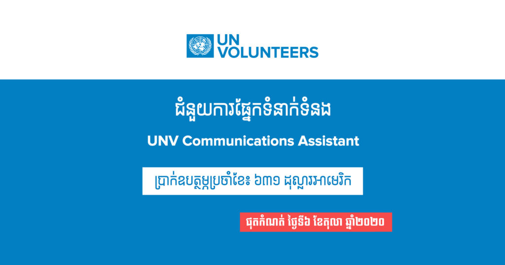 Opportunity to work with UNDP as a UN Volunteer in Phnom Penh