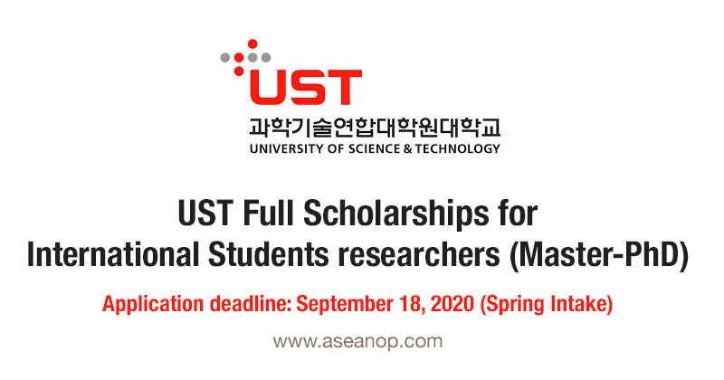 UST Full Scholarship for International Students in Master ...