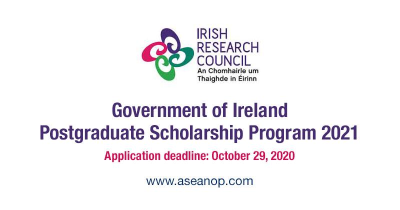 Government of Ireland Postgraduate Scholarship Program 2021