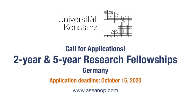 Konstanz University 2 and 5 years research fellowships