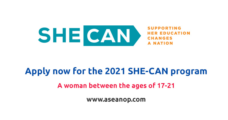 Apply now for the 2021 SHE-CAN program in USA