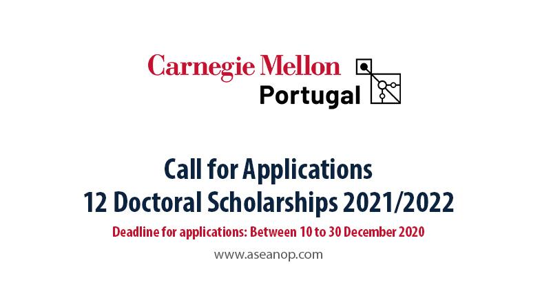 Portugal 12 PhD Scholarships 2021/2022