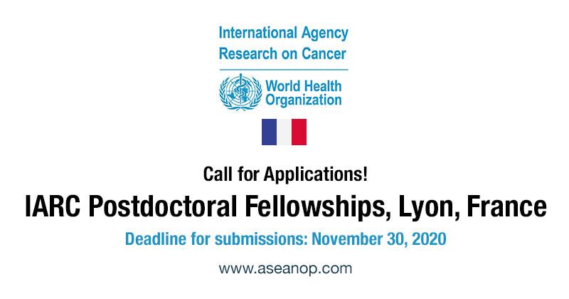 IARC Post doctoral Fellowships 2021-2023