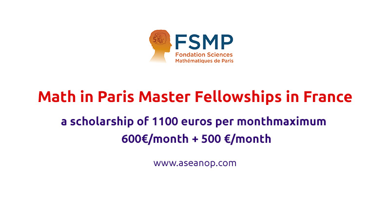 FSMP Math in Paris Master Fellowships for International Students in France, 2021