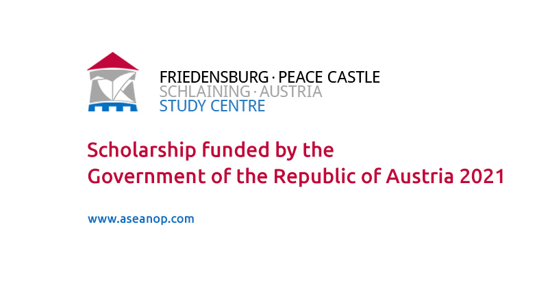 Scholarship funded by the Government of the Republic of Austria 2021