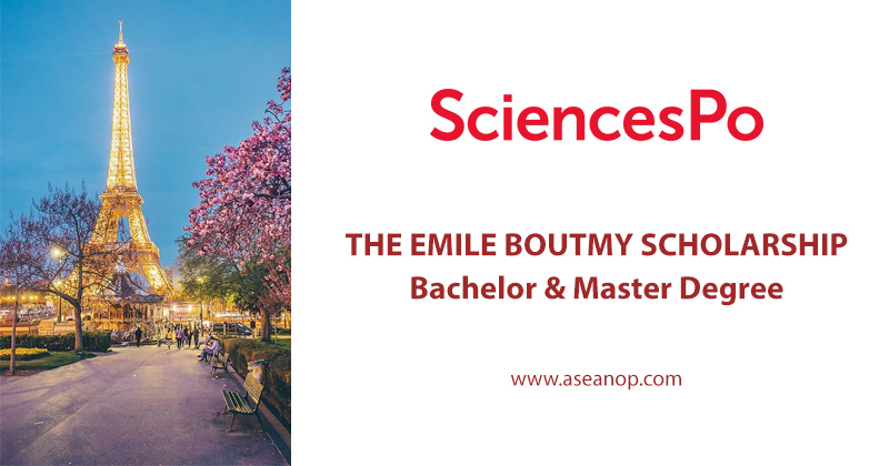 THE EMILE BOUTMY SCHOLARSHIP IN FRANCE (BA & MA)