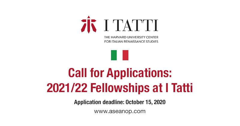 I Tatti Fellowship 2021-2022