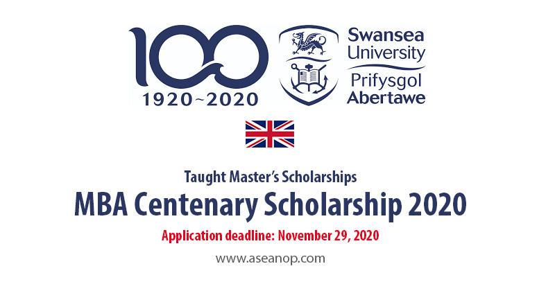 Swansea University MBA Centenary Scholarship 2020