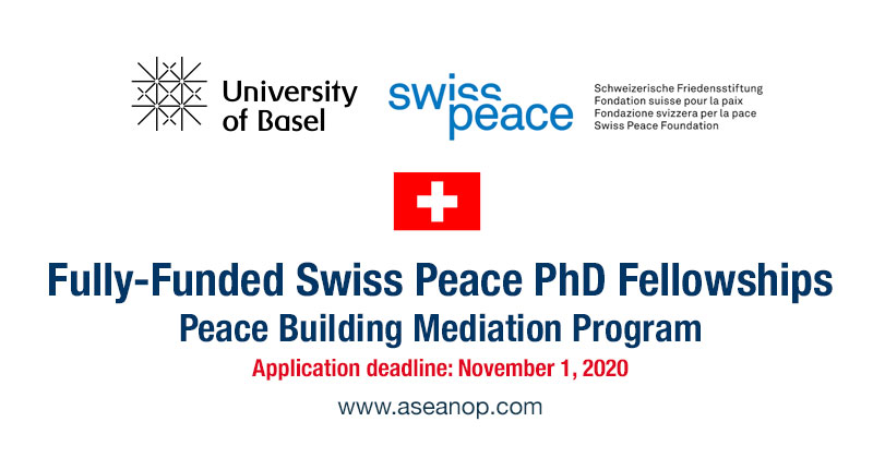 Fully-funded Swiss Peace Fellowship 2021