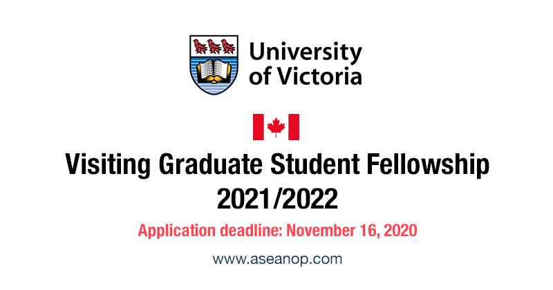 University of Victoria Visiting Graduate Student Fellowship 2021-2022