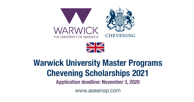 Warwick University Master Program - Chevening Scholarships 2021