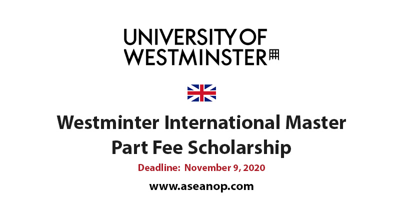 University of Westminster Part Fee master scholarship