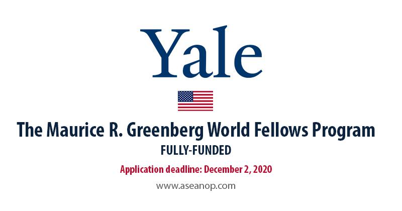 Yale Maurice R. Greenberg fellowship 2021