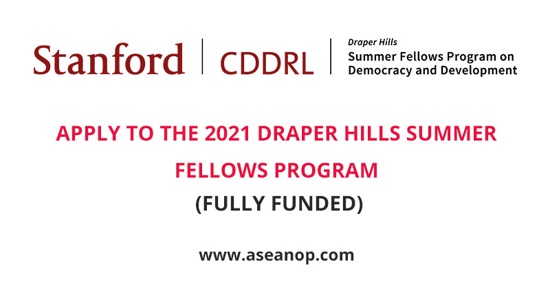 APPLY TO THE 2021 DRAPER HILLS SUMMER FELLOWS PROGRAM (FULLY FUNDED)