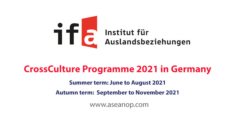 Call for Applications: CrossCulture Programme 2021 in Germany