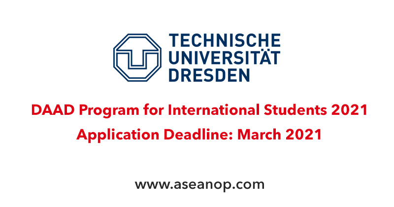 DAAD Program for International Students at TU Dresden in Germany, 2021