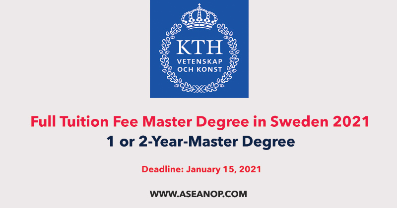 KTH Scholarship for Non-EU Students to Study Master in Sweden 2021