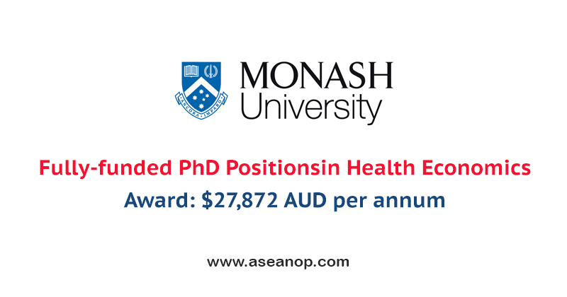 Fully Funded PhD scholarships in Health Economics: Mid-year entry 2021