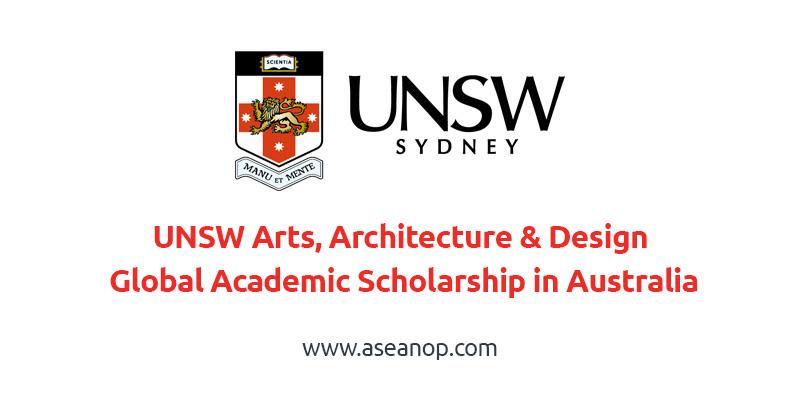 Arts, Architecture & Design Global Academic International Scholarship in Australia