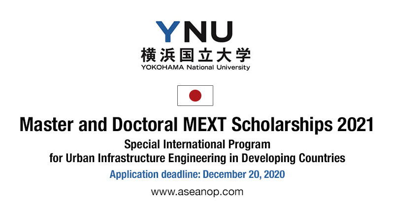 YNU yokohama mext scholarships 2021