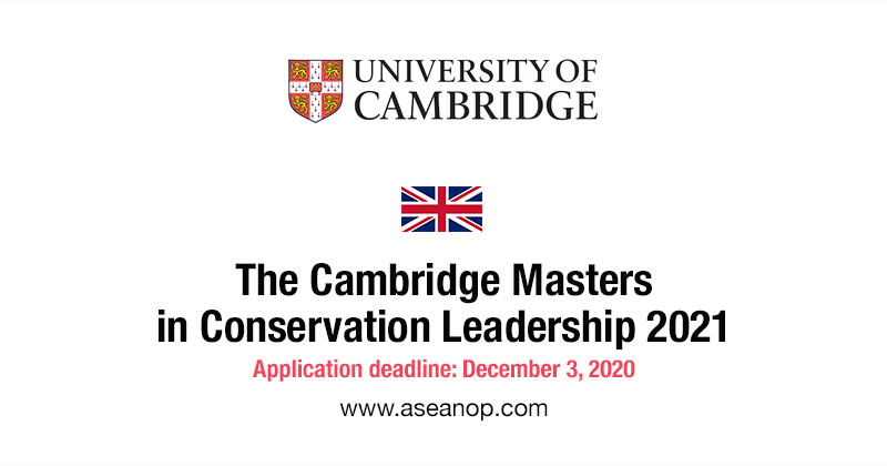 University of Cambridge Master in Conservation Leadership