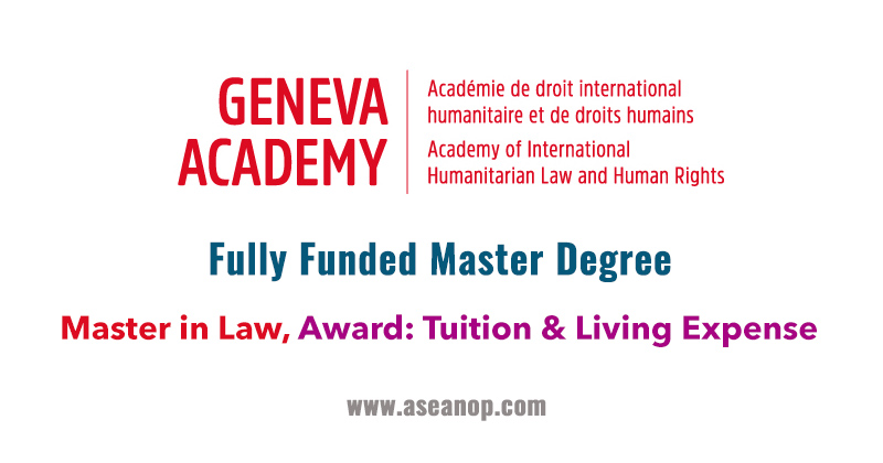 Fully Funded Scholarship to Study Master in Law in Switzerland