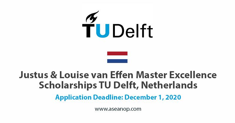 Van effen Master Excellence Scholarships 2021