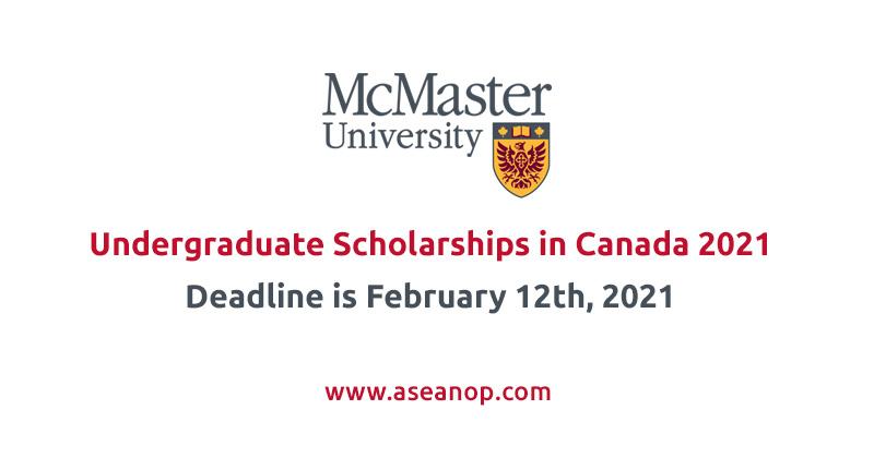 McMaster University Undergraduate Entrance Scholarships in Canada 2021