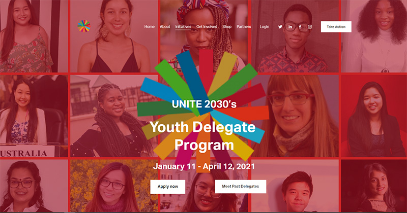 UNITE 2030's Youth Delegate Program 2021