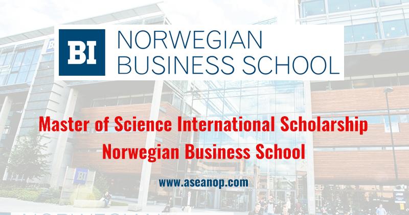 BI Norwegian Business School Master of Science International Scholarship