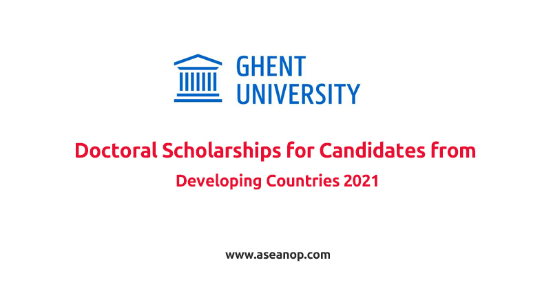 Ghent University Doctoral Scholarships for Candidates