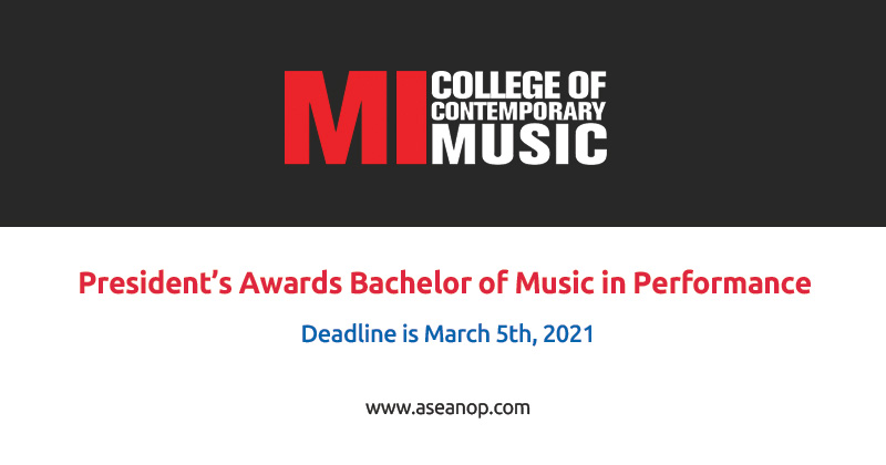 Awards Bachelor of Music in Performance Studies in USA