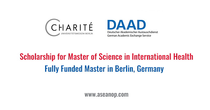 Scholarship for Master of Science in International Health.